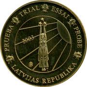 Latvia 10 ¢ Trial Essai 2003 PRUEBA TRIAL ESSAI PROBE LATVIJAS REPUBLIKA 2003 coin obverse