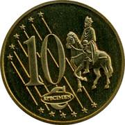 Latvia 10 ¢ Trial Essai 2003 10 ¢ SPECIMEN coin reverse