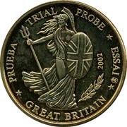 UK 10 ¢ Trial Probe 2002 PRUEBA TRIAL PROBE ESSAI GREAT BRITAIN 2002 coin obverse