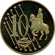 UK 10 ¢ Trial Probe 2002 10 ¢ SPECIMEN coin reverse