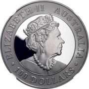 Australia 100 Dollars Platinum Wedge-Tailed Eagle 2019 Proof ELIZABETH II AUSTRALIA 100 DOLLARS coin obverse