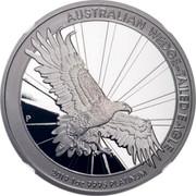 Australia 100 Dollars Platinum Wedge-Tailed Eagle 2019 Proof AUSTRALIAN WEDGE-TAILED EAGLE 1 OZ 9995 PLATINUM 2019 coin reverse