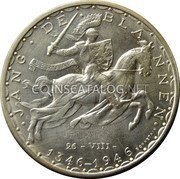 Luxembourg 100 Francs 1946 KM# 49 Standard Coinage Resumed coin reverse