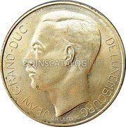 Luxembourg 100 Francs 1964 KM# 54 Standard Coinage Resumed coin obverse
