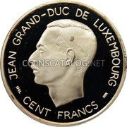 Luxembourg 100 Francs 1995 (qp) Proof KM# 70 Standard Coinage Resumed coin obverse
