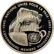 Luxembourg 100 Francs 1995 (qp) Proof KM# 70 Standard Coinage Resumed coin reverse