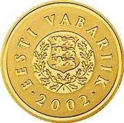Estonia 100 Krooni Kroon 10 years 2002 KM# 39 EESTI VABARIIK • 2002 • coin obverse