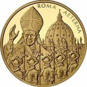 Malta 10000 Liras Pope and Swiss Guards 2005 Proof finish X# 319 ROMA AETERNA coin reverse