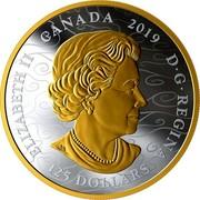 Canada 125 Dollars The Benevolent Dragon. Chinese New Year 2019 ELIZABETH II CANADA 2019 D • G • REGINA 125 DOLLARS coin obverse