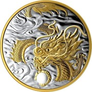 Canada 125 Dollars The Benevolent Dragon. Chinese New Year 2019  coin reverse