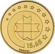 Estonia 15.65 Krooni Estonia's Euro Equivalent 1999 Proof KM# 37 EESTI VABARIIK 1999 coin obverse