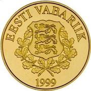 Estonia 15.65 Krooni Estonia's Euro Equivalent 1999 Proof KM# 37 15.65 KROONI coin reverse