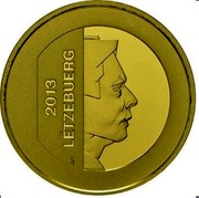 Luxembourg 15 Euro Central Bank of Luxembourg 2013 Proof KM# 130 2013 LËTZEBUERG GC coin obverse