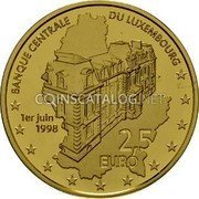 Luxembourg 2.50 Euro (20 Jahre Luxemburger Zentralbank)  coin reverse
