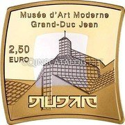 Luxembourg 2,50 Euro Museum of Modern Art 2016  Proof-like MUSÉE D'ART MODERNE GRAND-DUC JEAN 2,50 EURO coin reverse