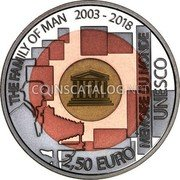 Luxembourg 2.50 Euro (The Family of Man) THE FAMILY OF MAN 2003-2018 MEMORIE DU MONDE / UNESCO 2,50 EURO coin reverse