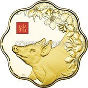Canada 2,500 Dollars (Year of the Pig)  coin reverse