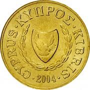 Cyprus 2 Cents Type 2 coat of arms 2004 KM# 54.3 CYPRUS ∙ ΚΥΠΡΟΣ ∙ KIBRIS 1960 ∙1991∙ coin obverse