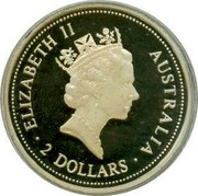 Australia 2 Dollars Australian Kookaburra King Edward VII mark 1994 Sovereign of King Edward VII KM# 261.1 ELIZABETH II AUSTRALIA RDM ∙ 2 DOLLARS ∙ coin obverse