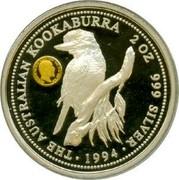 Australia 2 Dollars Australian Kookaburra King Edward VII mark 1994 Sovereign of King Edward VII KM# 261.1 THE AUSTRALIAN KOOKABURRA 2 OZ 999 SILVER EDWARDVS VII D: G: BRITT: OMN: REX F: D: IND: IMP: ∙ 1994 ∙ coin reverse