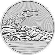 Australia 2 Dollars Silver Mother & Baby Crocodile 2019 P coin reverse