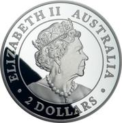 Australia 2 Dollars Silver Wedge-Tailed Eagle 2019 Proof ELIZABETH II AUSTRALIA 2 DOLLARS coin obverse