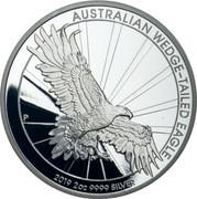 Australia 2 Dollars Silver Wedge-Tailed Eagle 2019 Proof AUSTRALIAN WEDGE-TAILED EAGLE 2019 2 OZ .9999 SILVER coin reverse