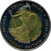 UK 2 E Trial Probe 2003 PRUEBA TRIAL PROBE ESSAI GREAT BRITAIN 2003 coin obverse