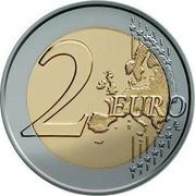 Cyprus 2 Euro 10th Anniversary of the Economic Monetary Union 2009 KM# 89 2 EURO coin reverse