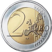 Luxembourg 2 Euro 1st map 2002 (u) Proof KM# 82 2 EURO LL coin reverse