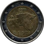 Estonia 2 Euro 2011 KM# 68 Euro Coinage 2011 EESTI coin obverse