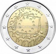 Cyprus 2 Euro 2015 KM# 102 Euro Coinage coin obverse
