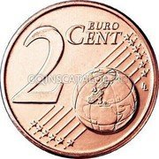 Cyprus 2 Euro Cent 2008 KM# 79 Euro Coinage coin reverse