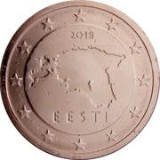 Estonia 2 Euro Cent 2011 KM# 62 Euro Coinage 2011 EESTI coin obverse