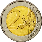 Cyprus 2 Euro Cruciform idol 2008 KM# 85 2 EURO LL coin reverse