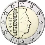 Luxembourg 2 Euro (Sint Servaasbrug) KM# 93 2017 LËTZEBUERG GC coin obverse