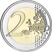 Luxembourg 2 Euro (Sint Servaasbrug) KM# 93 2 EURO LL coin reverse