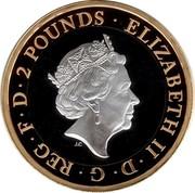 UK 2 Pounds RAF Spitfire 2018 Proof 2 POUNDS ∙ ELIZABETH II∙D∙G∙REG∙F∙D∙ J.C coin obverse