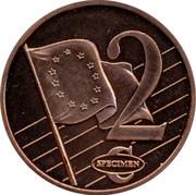 Latvia 2 ¢ Trial Essai 2003 2 ¢ SPECIMEN coin reverse