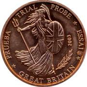 UK 2 ¢ Trial Probe 2003 TRIAL PROBE PRUEBA ESSAI GREAT BRITAIN 2003 coin obverse