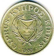 Cyprus 20 Cents 1983 KM# 57.1 Reform Coinage coin reverse