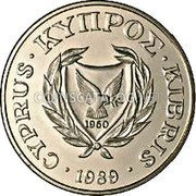 Cyprus 20 Cents 1989 Proof KM# 62.1 Reform Coinage coin obverse