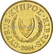 Cyprus 20 Cents 2004 KM# 62.2 Reform Coinage coin obverse