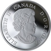 Canada 20 Dollars Give Peace a Chance - 50th anniversary 2019 CANADA ELIZABETH II D G REGINA coin obverse
