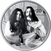 Canada 20 Dollars Give Peace a Chance - 50th anniversary 2019 20 DOLLARS 2019 coin reverse