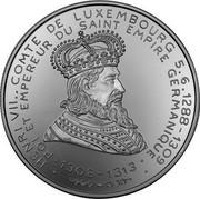 Luxembourg 20 ECU 35th Anniversary European Investmentbank 1993 Proof X# 29 HENRI VII .. COMTE DE LUXEMBOURG 5.6.1288 -1309 ROI ET EMPEREUR DU SAINT EMPIRE GERMANIQUE 1308-131 coin obverse
