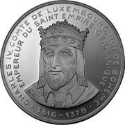 Luxembourg 20 ECU 40 years European Parliament Charles IV 1992 Proof X# 22 CHARLES IV. COMTE DE LUXEMBOURG, ROI DE BOHEME, EMPEREUR DU SAINT EMPIRE GERMANIQUE •1316-1378• coin obverse