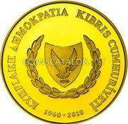 Cyprus 20 Euro 2010 Proof KM# 95 Euro Coinage coin obverse