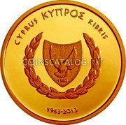 Cyprus 20 Euro 2013 Proof KM# 100 Euro Coinage coin obverse