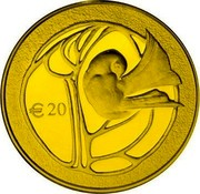 Cyprus 20 Euro 50th Anniversary of the Republic of Cyprus 2010 Proof KM# 95 € 20 coin reverse